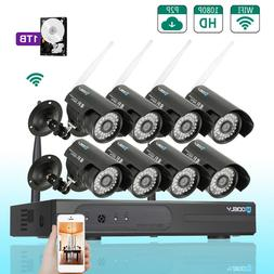 8CH Wireless Home Security Camera System 8pcs 720P Outdoor I