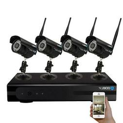 8CH Wireless NVR Outdoor IR-CUT IP Wifi Cameras Home Securit