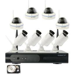 8PCS IP Cameras Home Surveillance Security Camera System Wir
