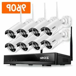 ZOSI H.265+ 1080p Wireless Security IP Camera System 3TB Har