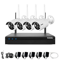 ANNKE 1.3Megapixel 1080P Wireless NVR Security System and  1