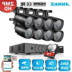 ANNKE 5in1 1080P Lite 8CH DVR 1TB 2000TVL 2MP CCTV Security