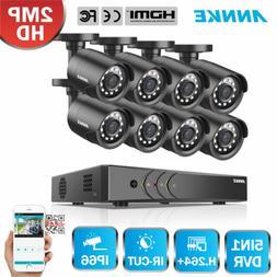 ANNKE 8CH 1080P Lite DVR 2500TVL Home Security Camera System