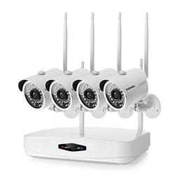 ANNKE New 4-Channel 1080P NVR Wireless Security Camera Syste