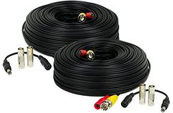Amcrest 2-Pack 150 Feet Pre-Made All-in-One Siamese BNC Vide