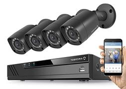 Amcrest Eco-HD 720P  8CH Video Security System w/ Four 1.0 M