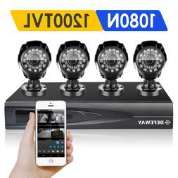 DEFEWAY 720P 4CH 1080N HDMI DVR CCTV Home Surveillance Secur