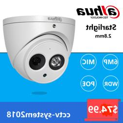 Dahua 6MP POE Built-in Mic IPC-HDW4631C-A Metal Dome Securit