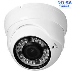 HD TVI 1080P Dome Camera 2.4MP HDTVI Sony CMOS, Varifocal 2.