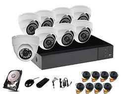 HDView 24CH Security Camera System, 16CH DVR and 8 CH NVR, w