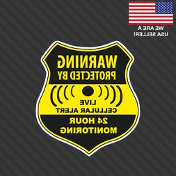 Home CCTV Surveillance Security Camera Video Sticker Warning
