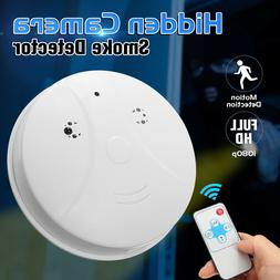 Mini Surveillance Camera HD Smoke Detector Home Security Aud
