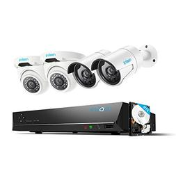 Reolink 4MP 8CH PoE Video Surveillance System, 2 x Bullet &