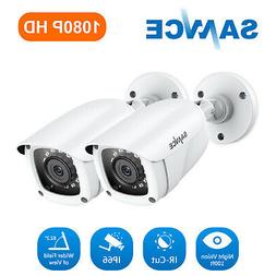 SANNCE 2x HD-TVI 720P Home Security CCTV Camera IR-Cut Night