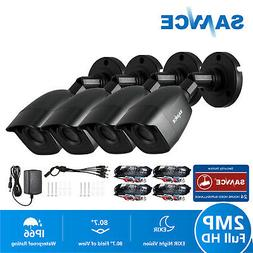 SANNCE 4X HD 1080P Indoor Outdoor Security CCTV Cameras IR-C