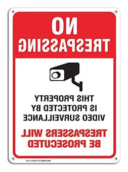 Video Surveillance Sign - No Trespassing Violators Will Be P