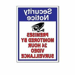 WARNING Security Cameras In Use surveillance Decal Sticker S