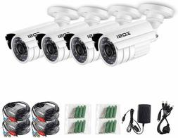 ZOSI 4 Pack 1080P HD 4 in 1 Waterproof Indoor/Outdoor Camera