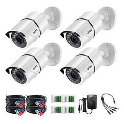 ZOSI 4Pack 2MP 1080p TVI Home Security Camera Outdoor Indoor