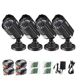 ZOSI 4PK 1280TVL 4-in-1 HD TVI/CVI/AHD/CVBS Security Camera
