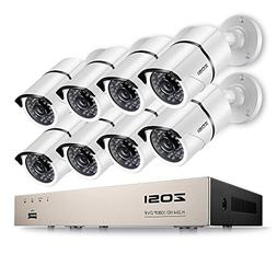 ZOSI Security Cameras System 8CH Full 1080P HD-TVI Surveilla