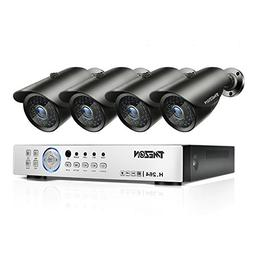 TMEZON 4 Channel 1080P AHD Home Security Cameras System DVR