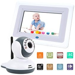 KKmoon Video Baby Monitor 7 Inch 2.4GHz Wireless Camera Plug