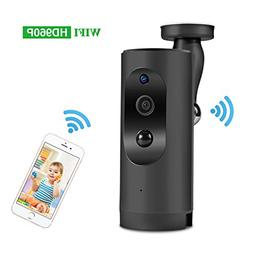 WiFi Security IP Camera Battery-Powered Wireless 960P Home