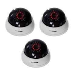 3 x Blinking Flash LED Dummy Cameras Fake CCTV Bullet Home S