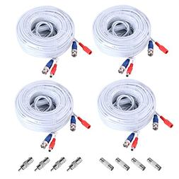 SANNCE 4-Pack 100ft BNC Video and Power Security Camera Cabl
