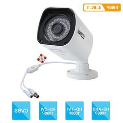 EWETON 1080P Bullet Security Camera, HD Hybrid 4-in-1 TVI/CV