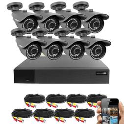 BV 16CH 4-in-1 HD DVR Security System , 8pcs 1080P Outdoor C