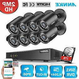 ANNKE 1080P Lite 5in1 8CH DVR 2MP TVI Outdoor CCTV Security