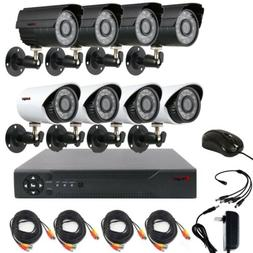CCTV 4CH Outdoor Home Surveillance Security Camera System AH