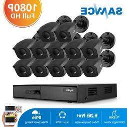 SANNCE CCTV Camera Security System Home 16CH DVR 1080P 2MP C