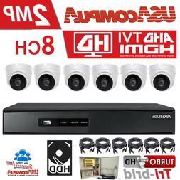 Hikvision CCTV Security Camera 6 Cameras Dome Turbo HD 2TB H