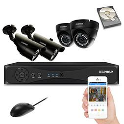 SANSCO CCTV Security Camera System with 4 Channel 1080N DVR,