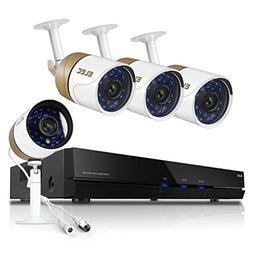 ELEC 8-Channel 1080N CCTV Security Camera System,720P AHD DV