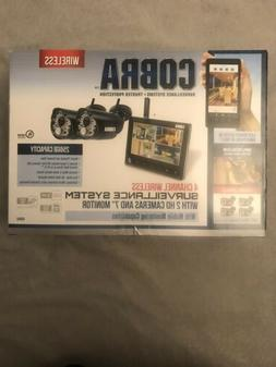 Cobra 4 Channel Wireless Security System with 2 Cameras and