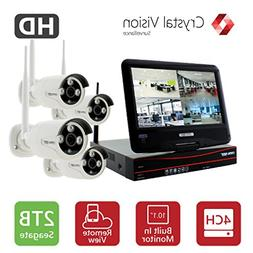 Crystal Vision CVT9604E-3010W 4CH HD Wireless Surveillance S