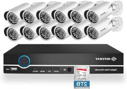 Defeway 16 Channel Security Camera System, Expenable 16Ch Ho