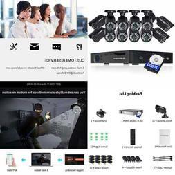DEFEWAY 16 Channel AHD DVR Video Camera System 12pcs 720p In