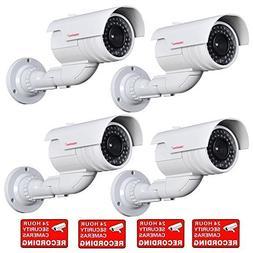 VideoSecu 4 Pack Dummy Bullet Security Cameras Fake CCTV Sur