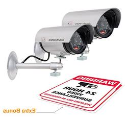 Dummy Security Camera with Realistic Look Recording LED Disg