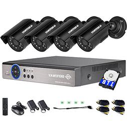 DEFEWAY 1080N DVR 1200TVL 720P HD Outdoor Home Security Surv