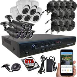 Sikker 16 Channel DVR 10 pcs 2 Megapixel HD 1080P Security C