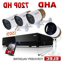 ELEC AHD 720P 8CH-4CAM DVR Video Surveillance Security Camer
