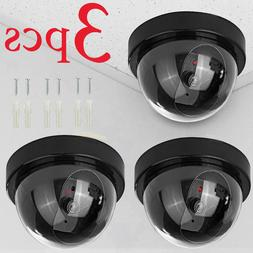 Fake Dummy Dome Surveillance Security Camera with LED Sensor