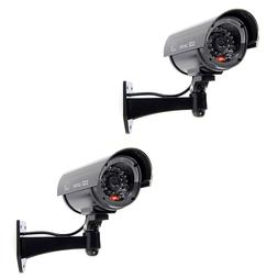 TOOGOO 2x Flashing Light Dummy Security Camera Fake Infrared