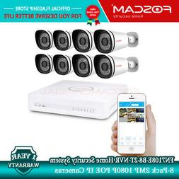 Foscam FN7108E-B8-2T NVR Home Security System w/ 8-Pack 2MP